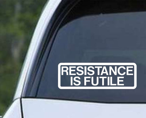 Star Trek - The Borg Collective Resistance is Futile Die Cut Vinyl Decal Sticker - Decals City