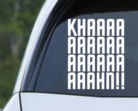 Star Trek - The Wrath of Kaaaaaaaaaaahn Die Cut Vinyl Decal Sticker - Decals City