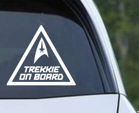Star Trek - Trekkie on Board Die Cut Vinyl Decal Sticker - Decals City