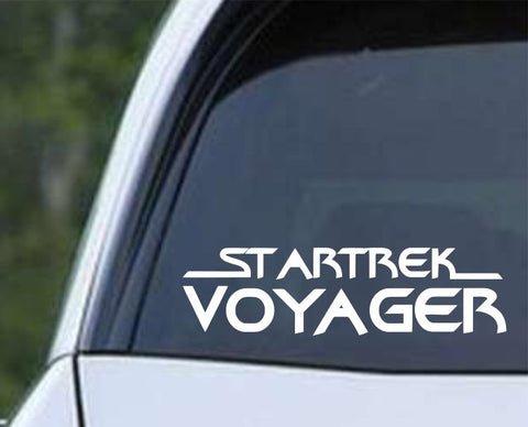Star Trek - Voyager Word Die Cut Vinyl Decal Sticker - Decals City