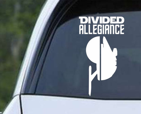 Star Wars - Star Trek Divided Allegiance Die Cut Vinyl Decal Sticker - Decals City