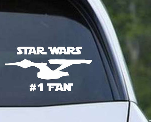 Star Wars Number 1 Fan Die Cut Vinyl Decal Sticker - Decals City