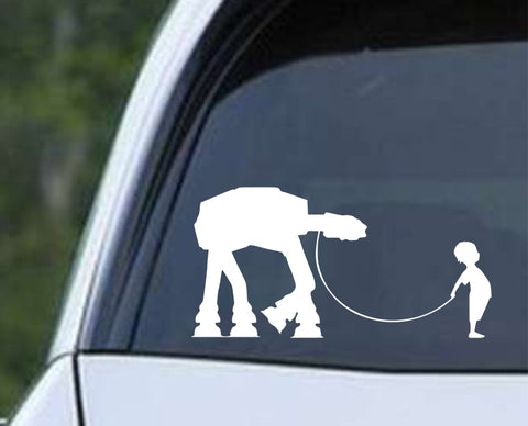 Star Wars - A Boy and His At - At Die Cut Vinyl Decal Sticker - Decals City