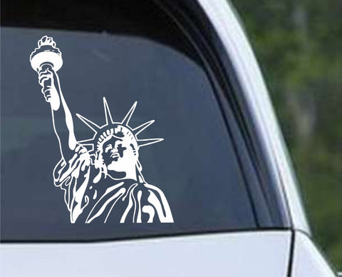 Statue of Liberty (01) Patriotic Die Cut Vinyl Decal Sticker - Decals City
