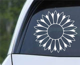 Sunflower Die Cut Vinyl Decal Sticker - Decals City