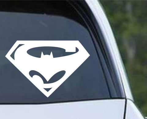 Superman Batman Logo Die Cut Vinyl Decal Sticker