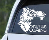 Teenage Mutant Ninja Turtles TMNT - Splinter is Coming Die Cut Vinyl Decal Sticker - Decals City