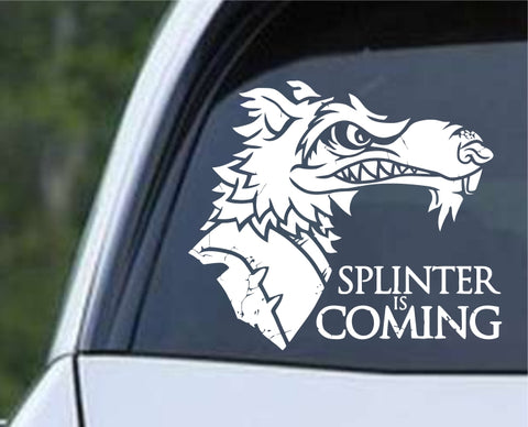 Teenage Mutant Ninja Turtles TMNT - Splinter is Coming Die Cut Vinyl Decal Sticker