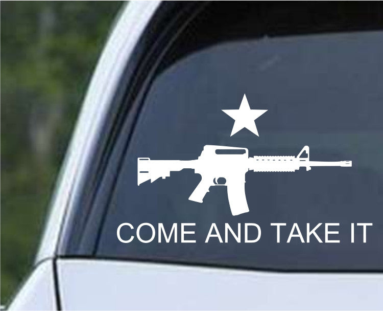Come and Take It M16 Die Cut Vinyl Decal Sticker - Decals City