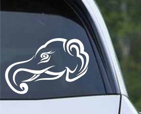 Elephant - Tribal Head Die Cut Vinyl Decal Sticker - Decals City