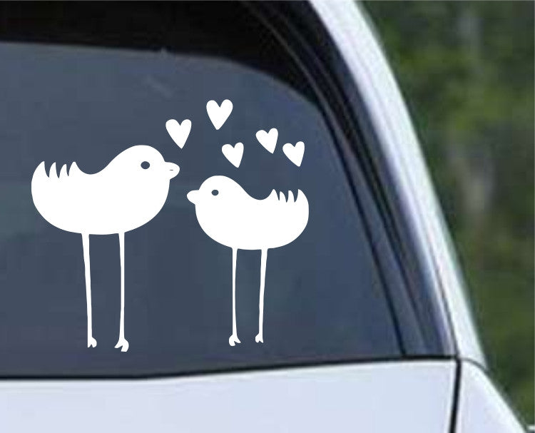 Two Birds in Love Die Cut Vinyl Decal Sticker - Decals City