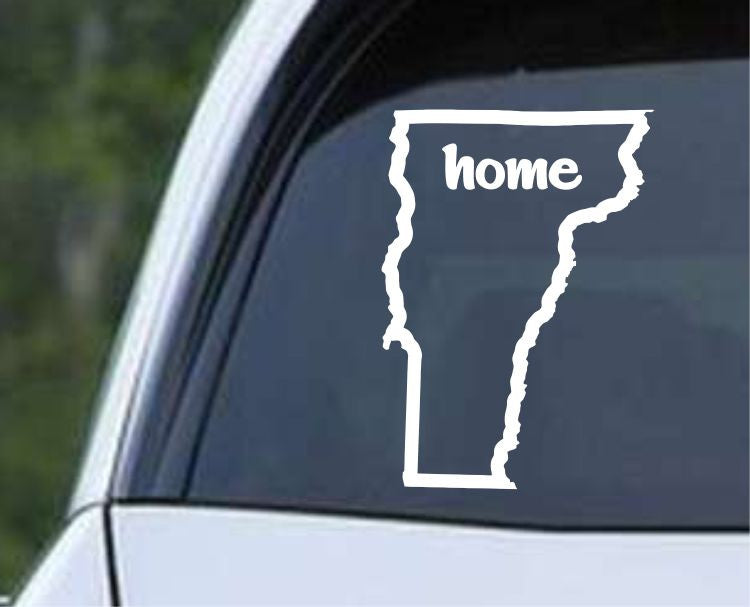 Vermont Home State Outline VT - USA America Die Cut Vinyl Decal Sticker - Decals City