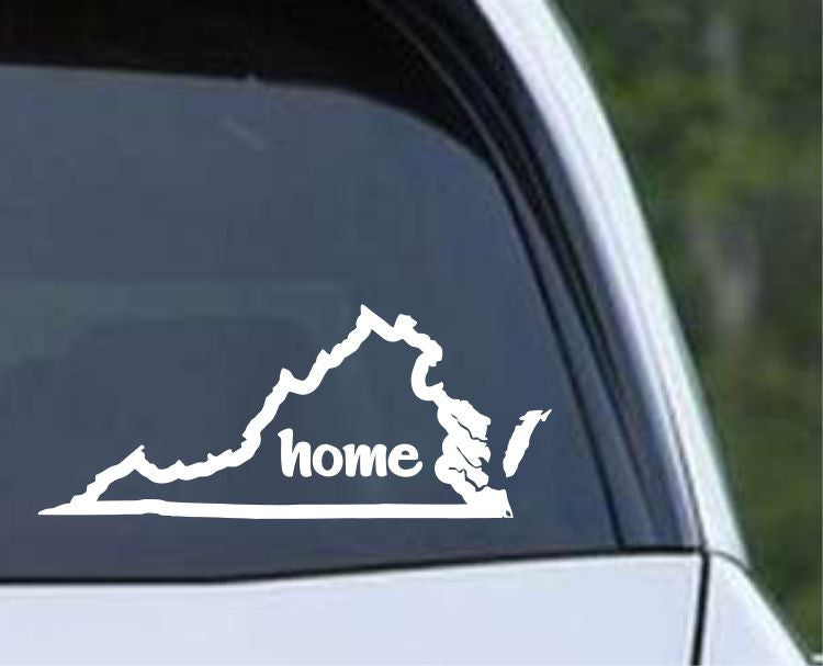 Virginia Home State Outline VA - USA America Die Cut Vinyl Decal Sticker - Decals City