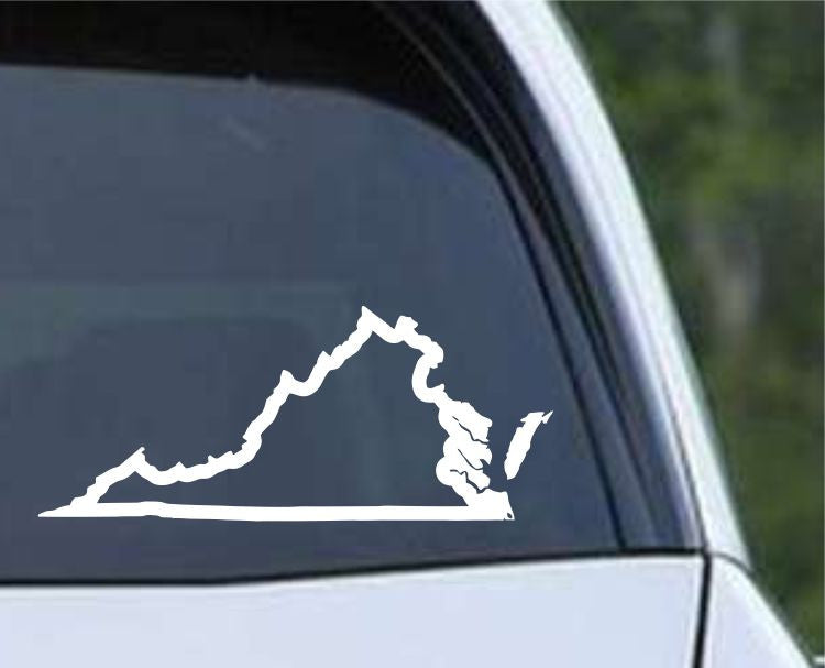 Virginia State Outline VA - USA America Die Cut Vinyl Decal Sticker - Decals City