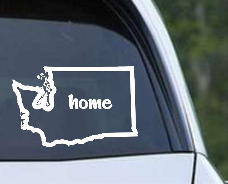 Washington Home State Outline WA - USA America Die Cut Vinyl Decal Sticker - Decals City