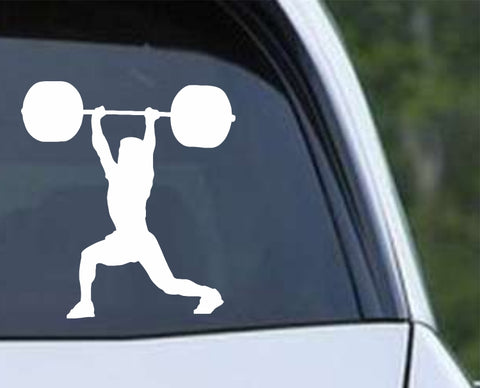 Weightlifting - Clean and Jerk Crossfit Power Lift Bodybuilding Die Cut Vinyl Decal Sticker