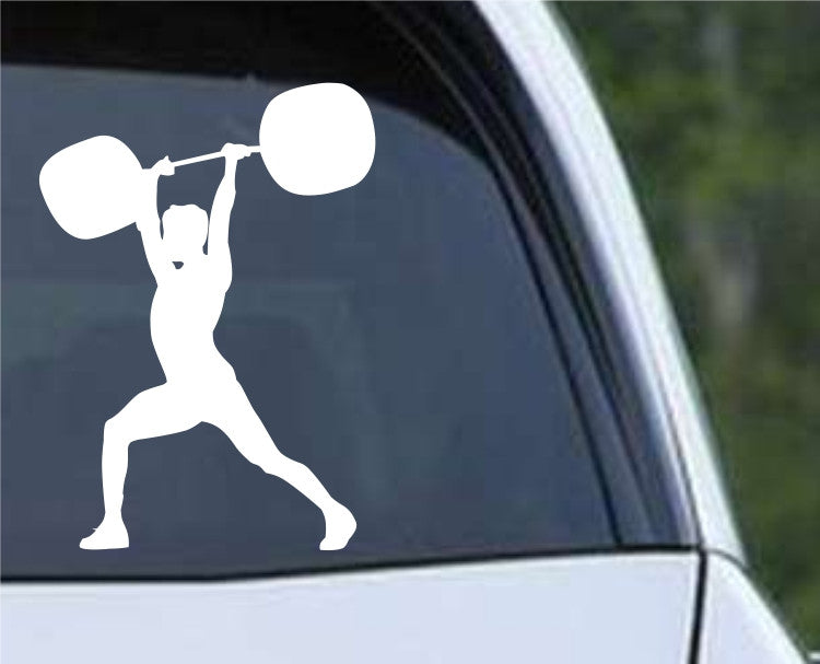 Weightlifting Man (j) Die Cut Vinyl Decal Sticker - Decals City
