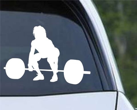 Weightlifting Man (l) Die Cut Vinyl Decal Sticker