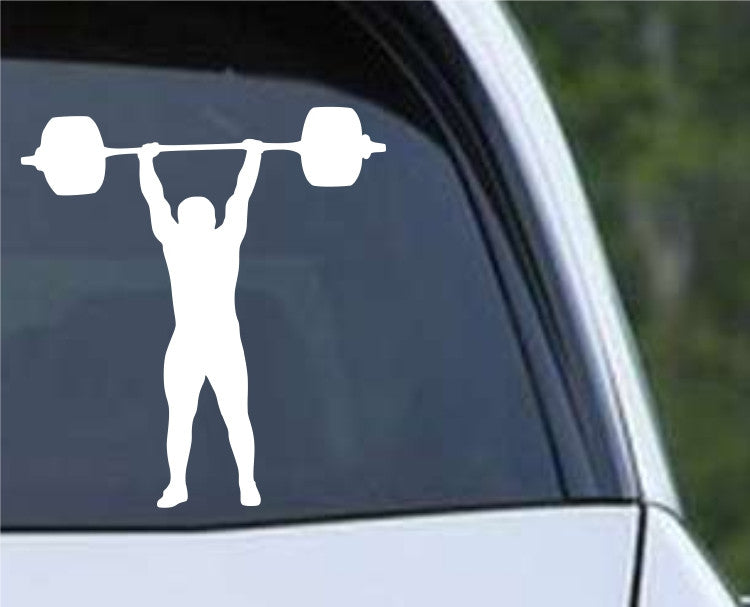 Weightlifting Man (n) Die Cut Vinyl Decal Sticker - Decals City
