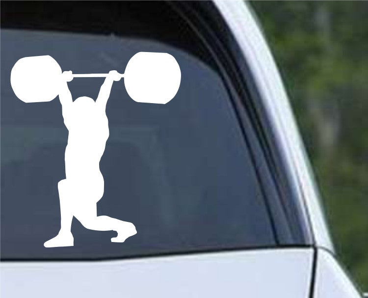 Weightlifting Man (p) Die Cut Vinyl Decal Sticker - Decals City