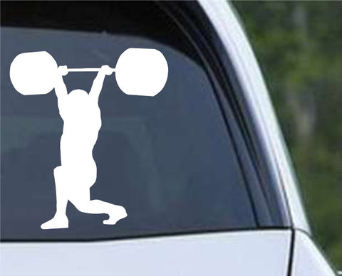Weightlifting Man (p) Die Cut Vinyl Decal Sticker
