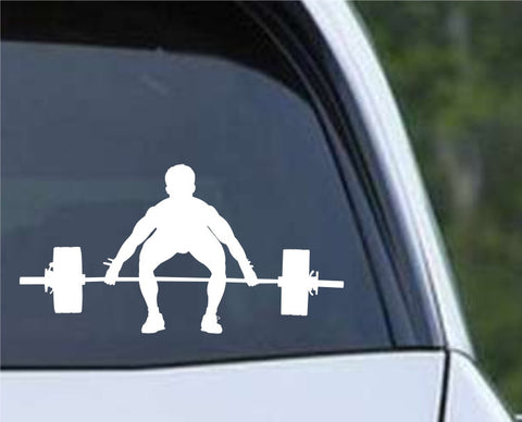Weightlifting Man (a) Die Cut Vinyl Decal Sticker - Decals City