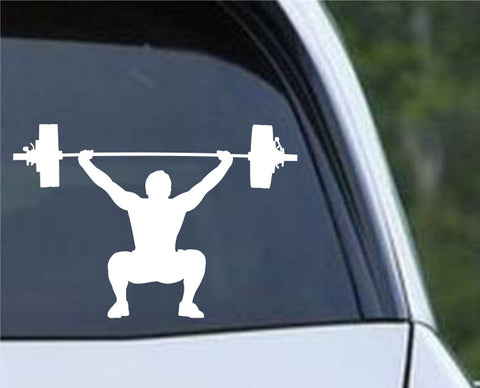 Weightlifting Man (b) Die Cut Vinyl Decal Sticker - Decals City
