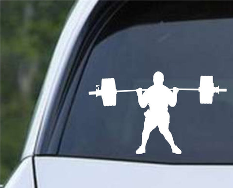 Weightlifting Man (d) Die Cut Vinyl Decal Sticker