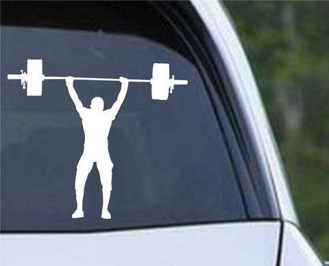 Weightlifting Man (e) Die Cut Vinyl Decal Sticker - Decals City