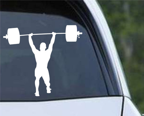 Weightlifting Man (g) Die Cut Vinyl Decal Sticker