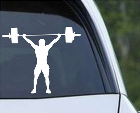 Weightlifting Man (h) Die Cut Vinyl Decal Sticker - Decals City