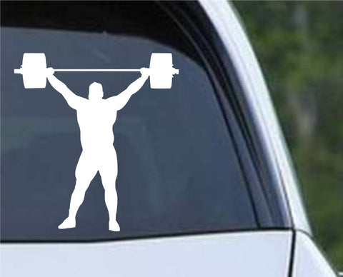Weightlifting Man (i) Die Cut Vinyl Decal Sticker