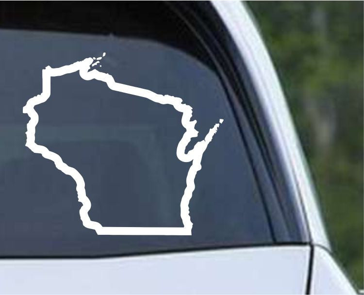 Wisconsin State Outline WI - USA America Die Cut Vinyl Decal Sticker - Decals City