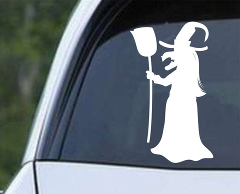 Witch (ad) Halloween Die Cut Vinyl Decal Sticker - Decals City