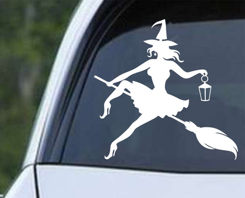 Witch (ah) Halloween Die Cut Vinyl Decal Sticker - Decals City