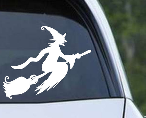 Witch (aj) Halloween Die Cut Vinyl Decal Sticker - Decals City