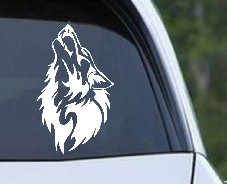 Wolf Howling (a) Die Cut Vinyl Decal Sticker - Decals City