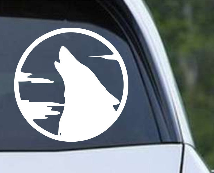 Wolf Howling (d) Die Cut Vinyl Decal Sticker - Decals City