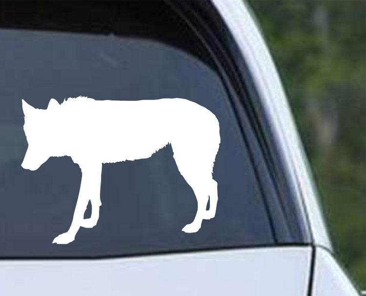 Wolf Silhouette (c) Die Cut Vinyl Decal Sticker - Decals City