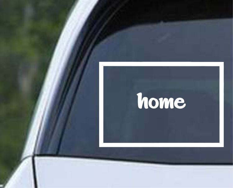 Wyoming Home State Outline WY - USA America Die Cut Vinyl Decal Sticker - Decals City