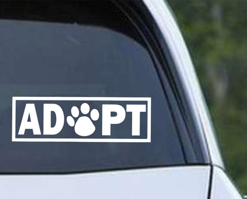 Adopt Paw Print Die Cut Vinyl Decal Sticker - Decals City