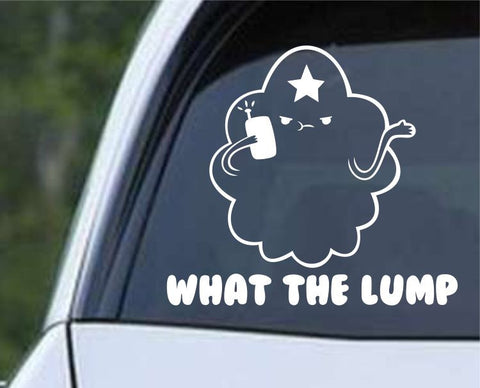 Adventure Time Lumpy Space Princess LSP What The Lump Die Cut Vinyl Decal Sticker - Decals City