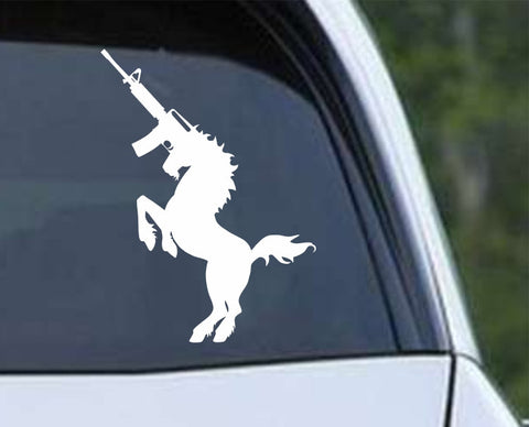 AK47 Unicorn Die Cut Vinyl Decal Sticker