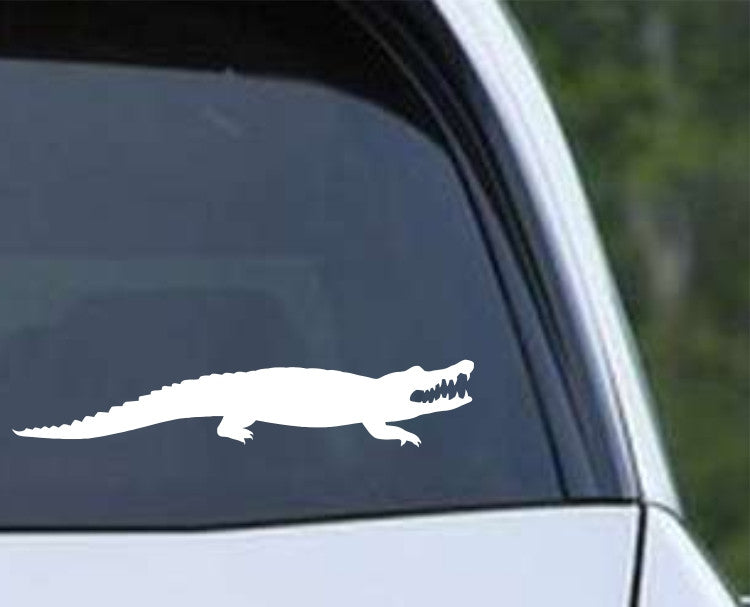 Alligator Silhouette Die Cut Vinyl Decal Sticker