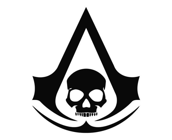 Black Flag Assassin S Creed Pirate Skull Die Cut Vinyl Decal