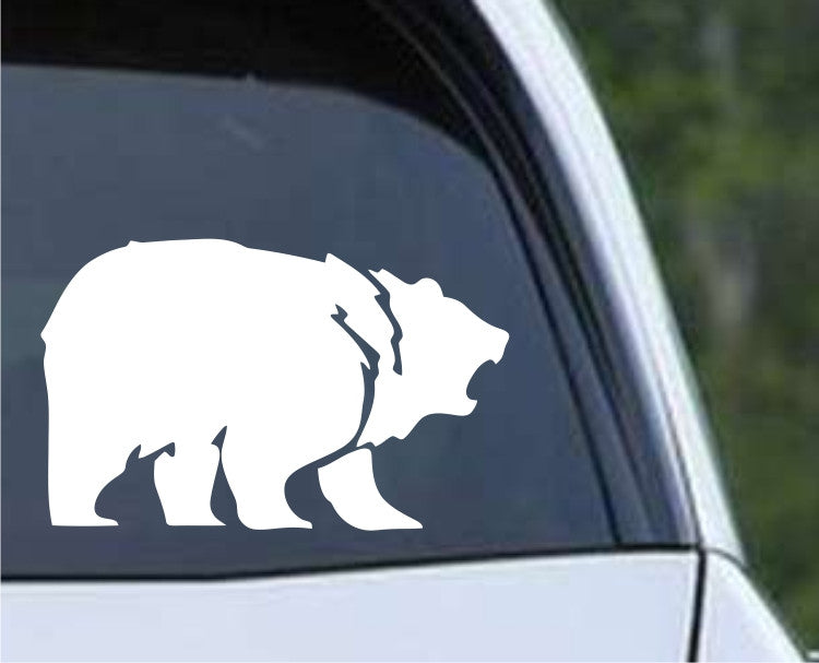Bear Silhouette (a) Die Cut Vinyl Decal Sticker - Decals City
