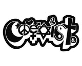 Coexist Cute Bubble Christian Die Cut Vinyl Decal Sticker - Decals City