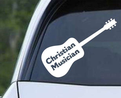 Christian Musician Die Cut Vinyl Decal Sticker
