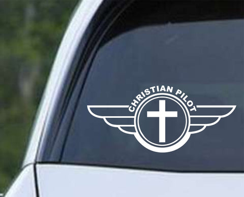 Christian Pilot Die Cut Vinyl Decal Sticker