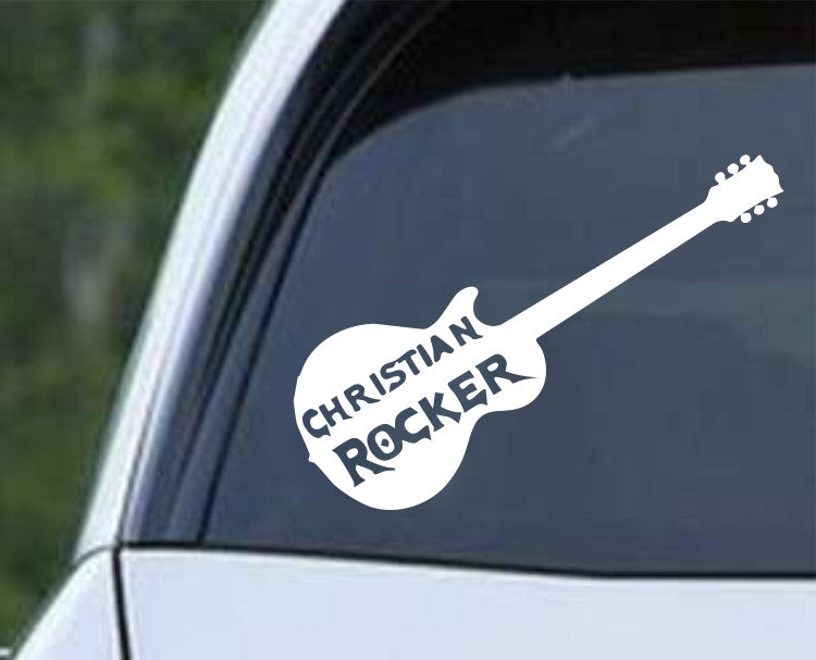 Christian Rocker Die Cut Vinyl Decal Sticker - Decals City